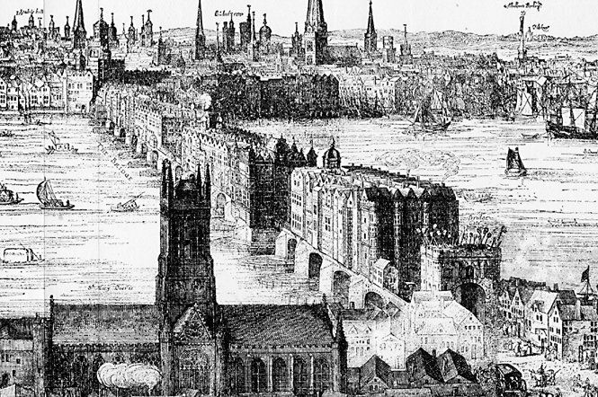London Bridge 1616 by Claes Van Visscher